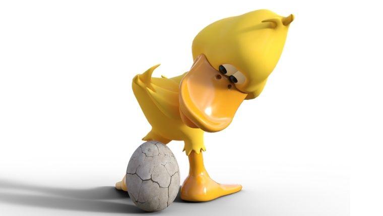 ニワトリの子供!アヒルと卵