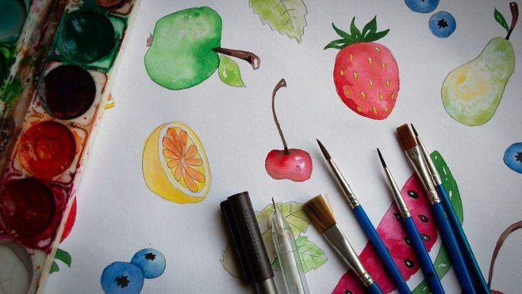 絵具と水彩画